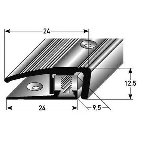 """Abschlussprofil / Abschlussleiste Laminat """"Trenton"""", Höhe 7 - 17 mm, 24 mm breit, 3-teilig, Aluminium eloxiert, gebohrt, Flex"""