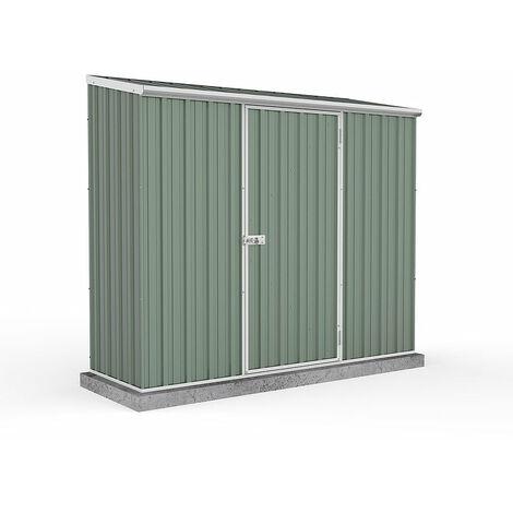 Absco Metal Shed 2.26m x 0.78m - (Pale Eucalyptus)