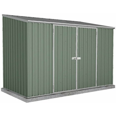 Absco Metal Shed 3m x 1.52m - (Pale Eucalyptus)