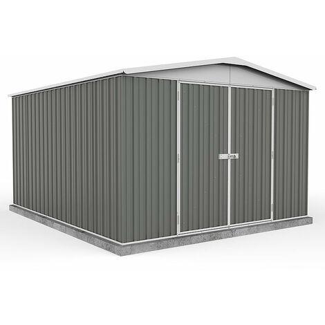 Absco Metal Shed 3m x 3.66m - (Grey)