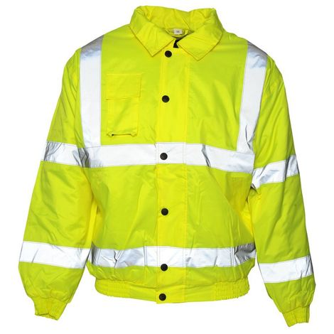 Absolute Apparel Mens Hi Viz Bomber Jacket