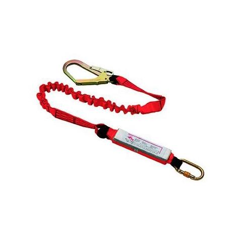 Absorbeur d'énergie avec sangle d'attache et connecteurs Toplock 71415 Rouge Unique