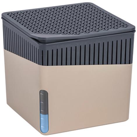 Absorbeur d'humidité Cube 1000 g beige - Dim : 16,5 x 15,7 x 16,5 cm -PEGANE-