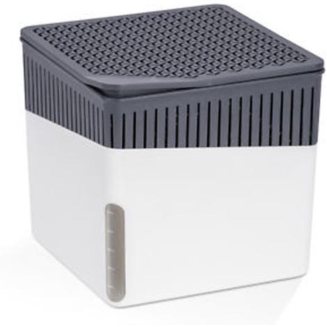 Absorbeur d'humidité Cube 1000 g blanc - Dim : 16,5 x 16,5 x 15,7 cm -PEGANE-