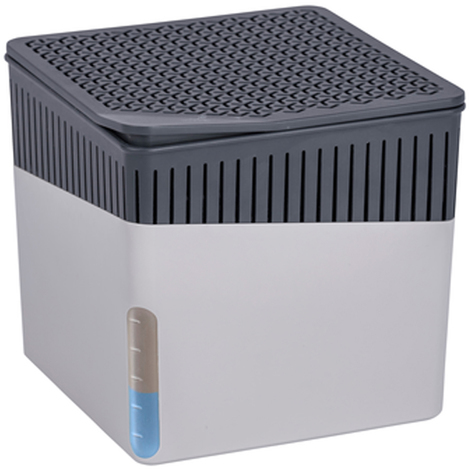 Absorbeur d'humidité Cube 1000 g gris - Dim : 16,5 x 16,5 x 15,7 cm -PEGANE-