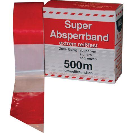 Absperrband im Spenderkarton rot/weiß 500 m