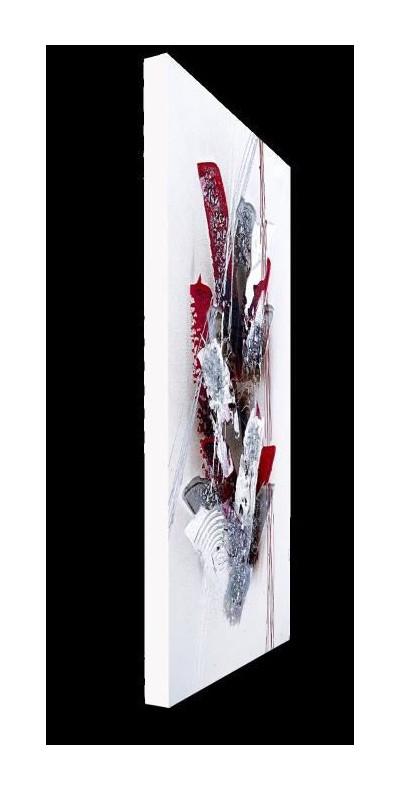 Rouge La Tableau A Main Déco Abstrait Cm Peinte Toile 30x60 uOZXiPk