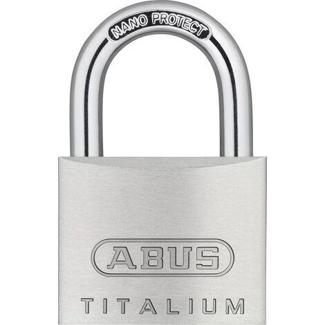 ABUS 79474 Zylindervorhangschloss 64TI/40 Schlosskörperbreite 40 mm Titalium ver