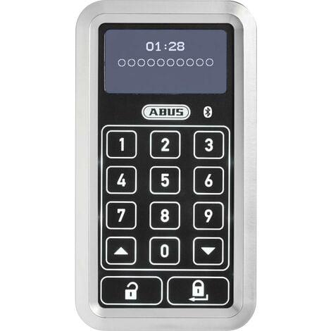 ABUS ABHT10133 Serrure à code numérique en façade 6 V Bluetooth