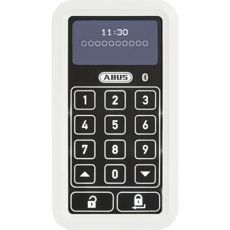 ABUS ABHT10134 Serrure à code numérique en façade 6 V Bluetooth