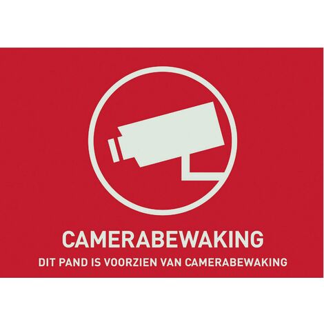 ABUS AU1304 Warnaufkleber Videoüberwachung Sprachen Niederländisch (B x H) 148mm x 105mm D39484