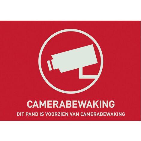 ABUS AU1305 Warnaufkleber Videoüberwachung Sprachen Niederländisch (B x H) 74mm x 53mm D39483