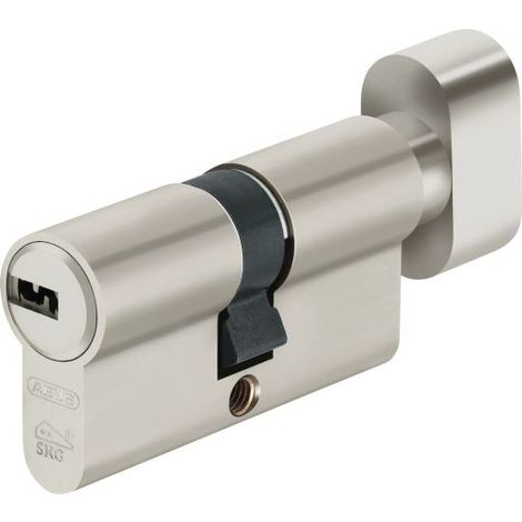ABUS Cilindro europeo doble embrague llave puntos d10 30+30 5k+t latón pomo
