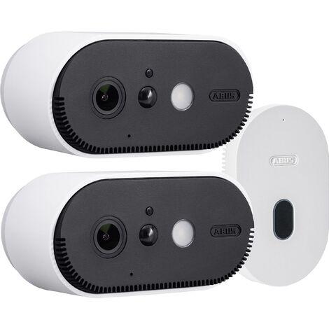 ABUS IP Jeu de caméras de surveillance avec 2 caméras pour extérieure, intérieure Akku Cam Q827942