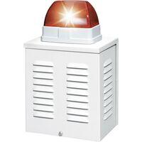 ABUS SG1650 Alarm-Sirene mit Blitzleuchte 110 dB Rot Innenbereich, Außenbereich 12 V/DC D37405