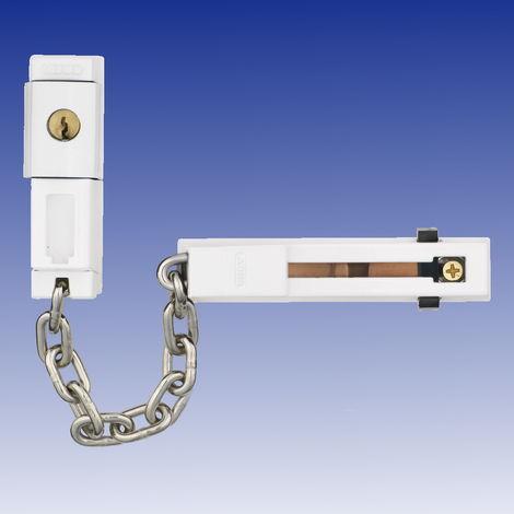 Abus SK78 Abschließbare Türkette in braun, weiß oder silber
