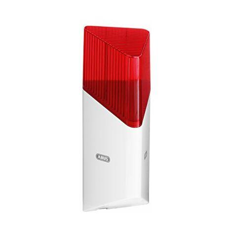 ABUS Smartvest Sirena antifurto FUSG35000A - Sirena ad alto volume con luce rossa lampeggiante - Per uso interno ed esterno - 100 dB - 38832