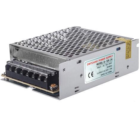 AC 100V ~ 240V DC 24V 5A 120W Transformateur de tension Commutateur d'alimentation pour Led Strip