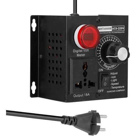 Ac 220V 4000W Compact Controller Variable Tension Vitesse Portable Temperature Lumiere Tension Adjuatable Dimmer