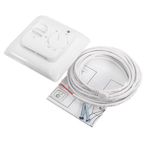AC 230V électrique Mécanique Thermostat Chauffage Par Le Sol Avec Capteur Cable