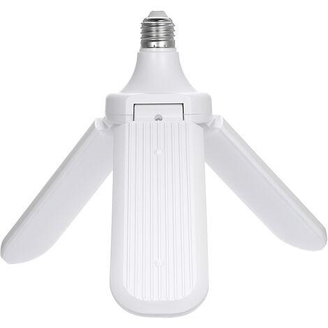 AC 95-265V plegable del ventilador del bulbo E27 3 ventiladores de techo de garaje luces engulo de iluminacion LED de la cuchilla ajustable de luz para interiores Decoracion del hogar, blanco