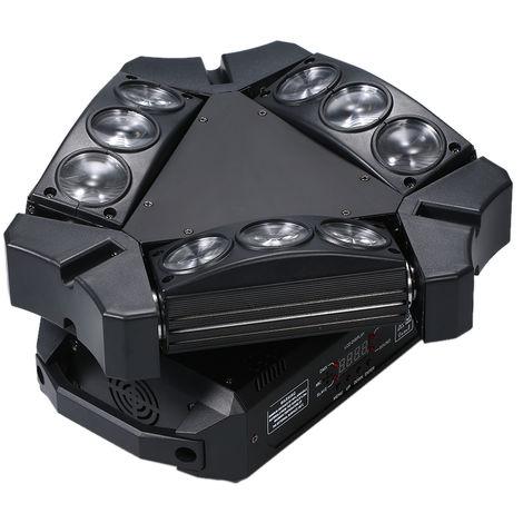 AC100-240V 100W 9 LED RGB giratorio Etapa lamparas de arana del mini del triangulo de luz accesorio de iluminacion DMX512 Soportado / sonido activado / Auto-funcionamiento / maestro-esclavo
