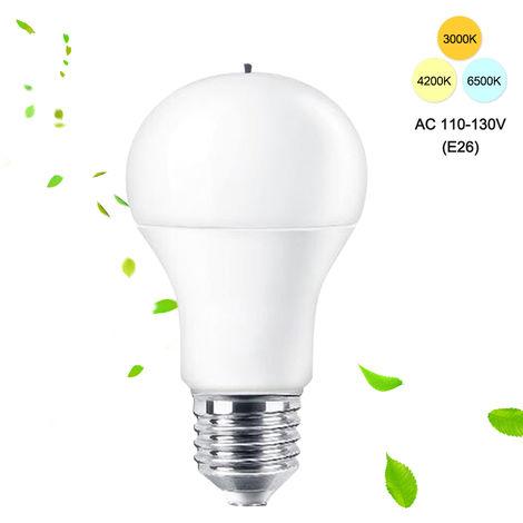 AC110-130V 10W 28 LED de aniones bombilla de la lampara E26 zocalo de la base de purificacion de aire Bombillas colores del tubo de ventilacion 3 Iluminacion conmutable aire refrescante, E26