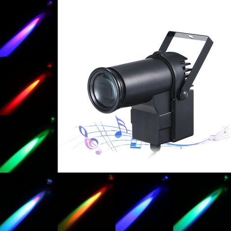 AC110-240V 15W RGB LED Mini lampara puntual, luz de escenario, accesorio de iluminacion