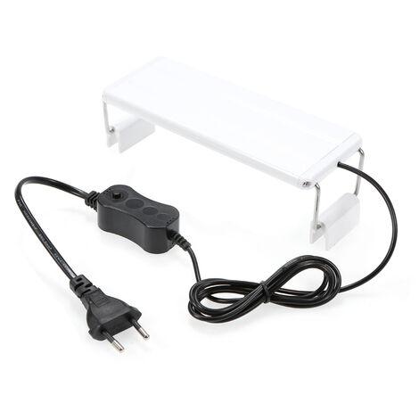AC220V 5W acuario clip de la lampara flexible ajustable con deposito de soporte extensible para los pescados, 5W