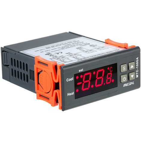 AC220V, controlador de temperatura LED digital, termometro termostato, con reles NTC Sensor 2