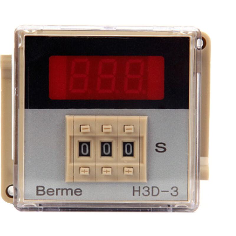 AC220V tiempo de retardo de control de tiempo del rele temporizador digital interruptor 999 Segunda 8 Pin