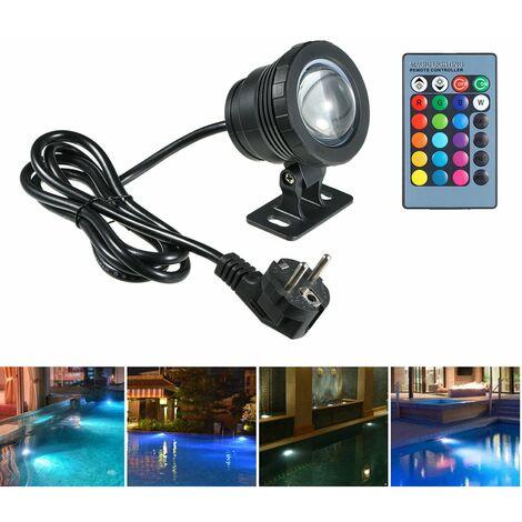 """main image of """"AC85-265V 20W RGB LED Lampara sumergible de luz subacuatica con funcion de memoria de control remoto 16 colores cambiantes Flash / Strobe / Fade / Smooth 4 efectos de iluminacion IP65 Resistente al agua (la mayoria 1m) Diseno para piscina Acuario Estanque"""""""