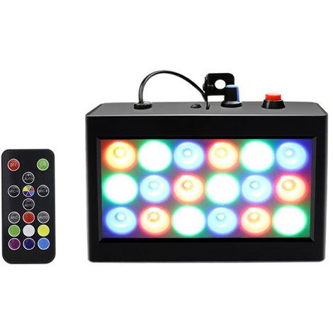 AC90-240V 20W RGB de la lampara luz de la etapa, el apoyo de ejecucion automatica / sonido activado / Efecto flash de velocidad ajustable, cascara Negro, luz de color, con mando a distancia
