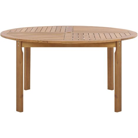 Acacia Garden Dining Table ø 150 cm Light Wood TOLVE