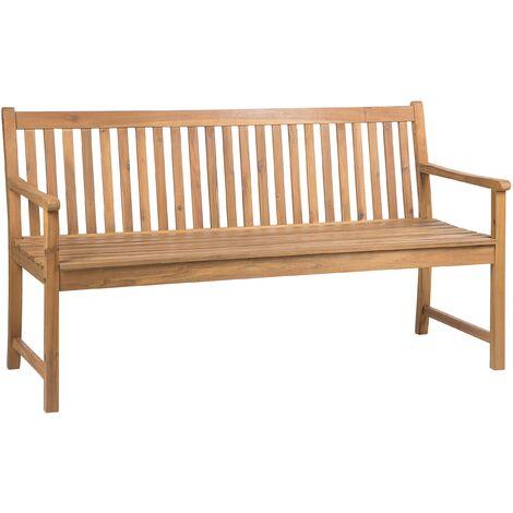 Acacia Wood Garden Bench 160 cm VIVARA