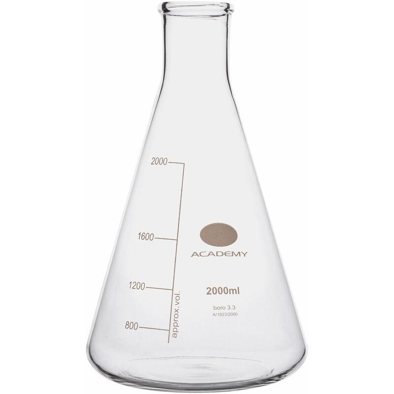 Image of Academy Flask Boro Glass, 2000ml, Heavy Duty, Narrow Neck