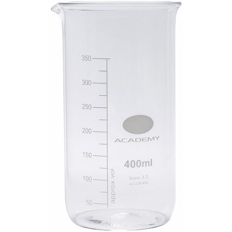 """main image of """"Academy Tall Form Glass Beaker With Spout 400ml Pack of 12"""""""