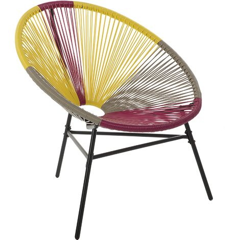 Accent Chair Multicolour Yellow ACAPULCO