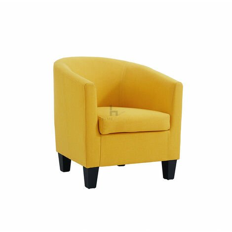 """main image of """"Accent Tub Chair, Mustard fabric"""""""