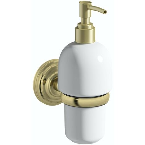 Accents 1805 antique gold soap dispenser and holder