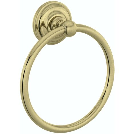Accents 1805 antique gold towel ring