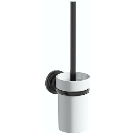Accents 1805 black toilet brush and holder