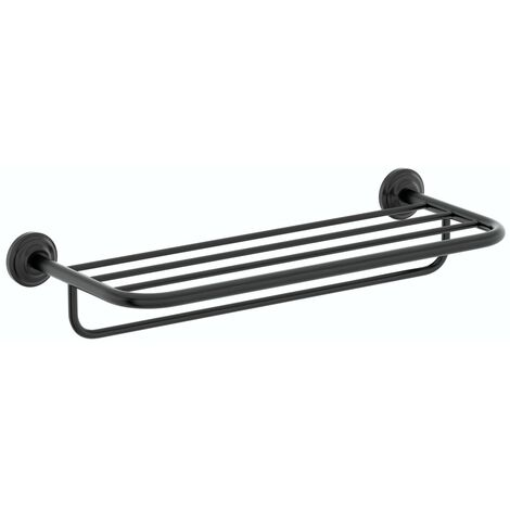 Accents 1805 black towel shelf