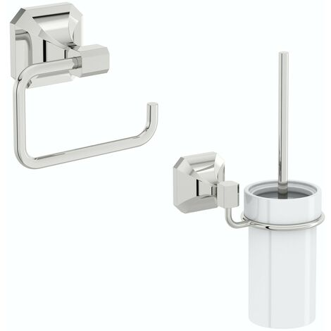 Accents Camberley 2 piece toilet accessory pack