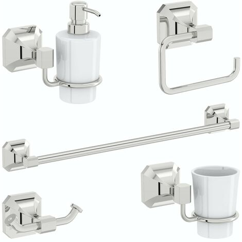 Accents Camberley 5 piece ensuite accessory set