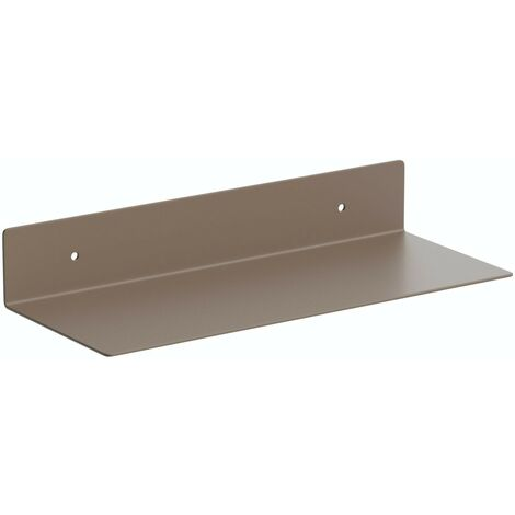 Accents Mono taupe 300mm bathroom shelf
