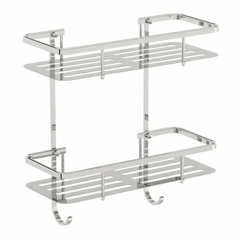Accents Options brass double shower caddy