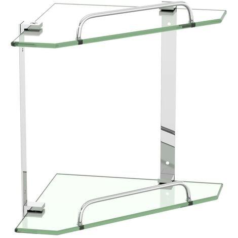 Accents Options double square corner glass shelf