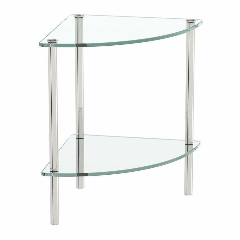 Options freestanding quadrant 2 glass shelf unit - Accents