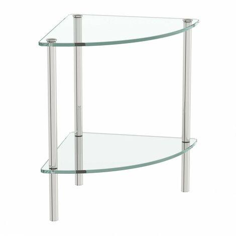 Accents Options freestanding quadrant 2 glass shelf unit